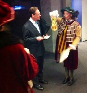 The Flat Earth Institute of the Universitarse of Apocalyptiarse (est. 1033) confer on honorary BhP on the shadow minister for Climate Change Greg Hunt for his Direct Action Plan