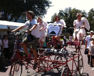Angels on Bikezilla. Sustainable Living Festival