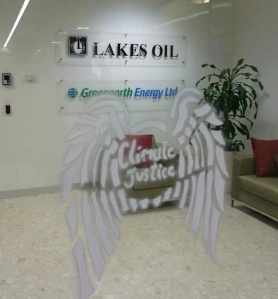 Lakes Oil Office Stencil