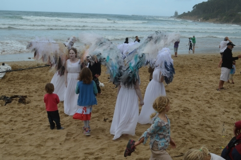 Climate angels with children