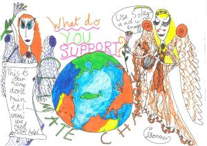 Eva Save the Climate Drawing