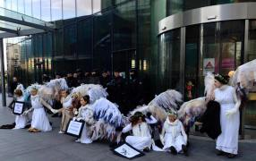 After nearly four hours blockading Engie's global headquarters in bitter cold, kneeling before a Parisian riot squad detailing the findings of a major report on Engie's failings of Victoria's Latrobe Valley community