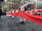In protest of the deep injustice and lack of ambition inherent in the Paris Agreement, Climate Guardians led a crowd of more than 10,000 through the Paris streets on the last day of COP21, December 2015