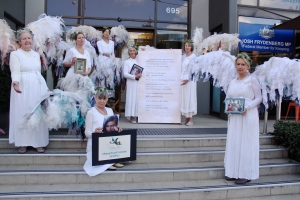 Mothers and Grandmothers portending at Federal Minister for Resources & Energy Josh Frydenberg's office on Mothers Day eve 2016