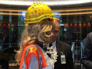 This security guard couldn't keep his eyes off Coral Bleach's Great Barrier Reef keepsake of dead coral & coal