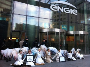 A flock of Climate Guardian Angels descended on Engie's global head office during COP21 to call the transnational energy corporation to account for its reckless and self-serving approach to business