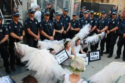 Climate Guardians blockading Brisbane's G20, November 2014