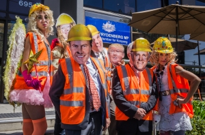 To debunk ideologically motivated rumours that clean coal doesn't exist, Coal Diggers CEO2 Coral Bleach, key Federal Government Ministers and mining industry heavy weights held a press conference at Federal Minister for Environment and Energy Josh Frydenberg's office to announce the innovative Clean Coal Fairy™